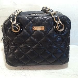 Kate Spade leather quilted purse gold chain strap